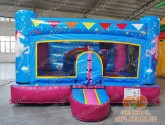Indoor unicorn bounce house