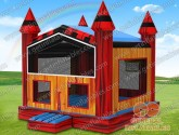 Red marble bounce house