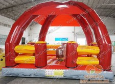 Inflatable Mechanical Rodeo Bull with roof