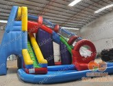 Twister water slide with pool