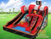 Pirate water slide with pool