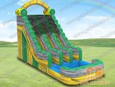 Nuclear toxic double lane water slide