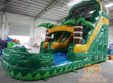 Forest water slide